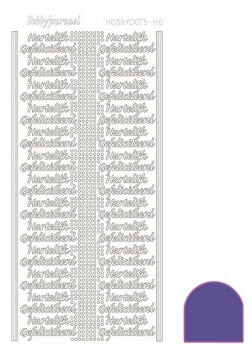 Hobbydots sticker - Mirror - Purple HG