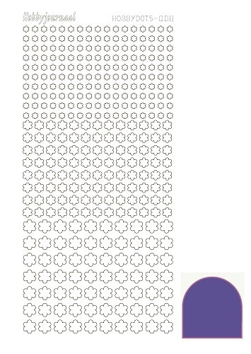 Hobbydots sticker - Mirror - Purple - serie 8