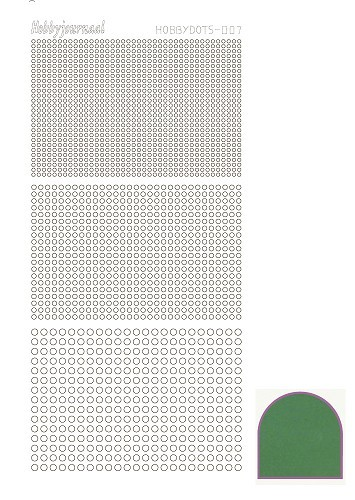 Hobbydots sticker - Mirror - Green - serie 7