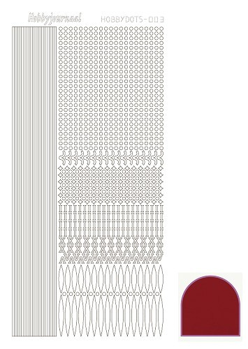 Hobbydots sticker - Mirror - Red - serie 3