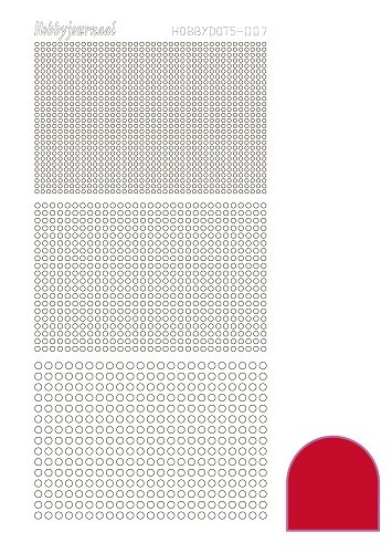 Hobbydots sticker - Adhesive - Red - serie 7