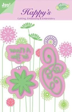 Joy Crafts! - Cutting, Embossing & Embroidery stencil - Flower for you
