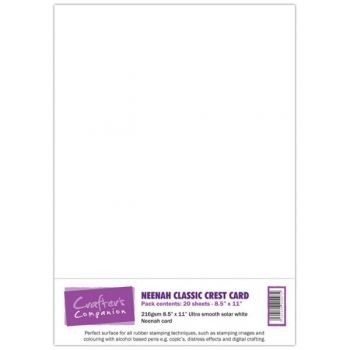 Crafters Companion - Neenah Solar White - A4 - 20 sheets