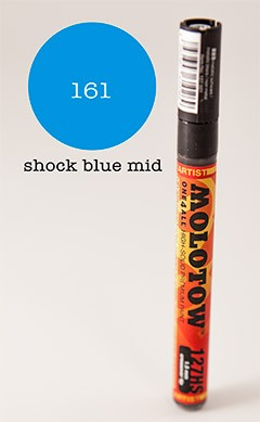 Molotow Marker 127HS - Shock Blue - 1,5mm Crossover