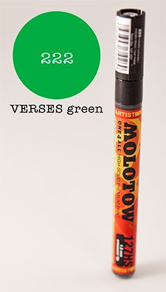 Molotow Marker 127HS - Universes Green - 1,5mm Crossover