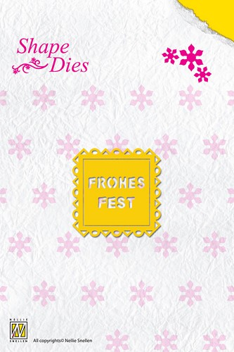 Shape Die Text Fohes Fest (text fits in SD014)
