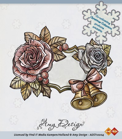 Amy Design - Clear Stamp - Roses and bells