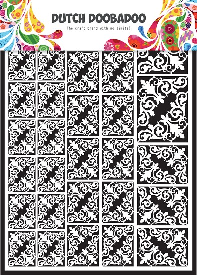 Dutch Doobadoo - Dutch Paper Art A5 - wit - hoekjes