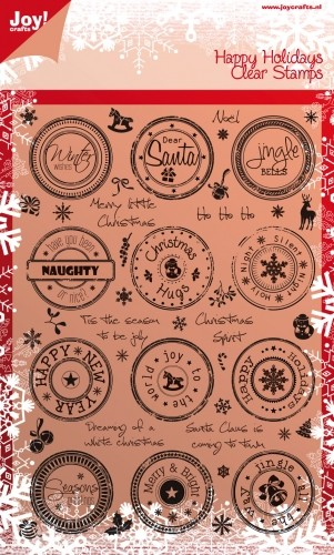 Joy! Crafts - Clearstamps Happy Holidays Dear Santa