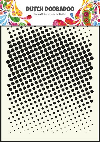 Dutch Doobadoo - Dutch Mask Art A5 - Faded Dots
