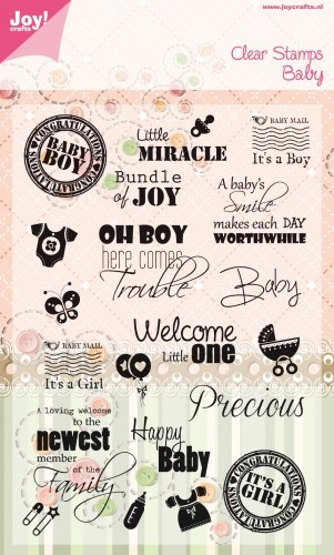 Joy! Crafts - Stempel tekst ENG baby stamps