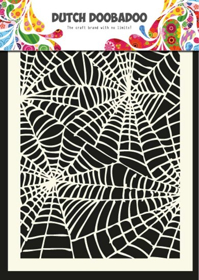 Dutch Doobadoo - Dutch Mask Art A5 - Spider web