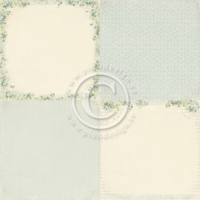"Pion Design - Sweet Baby 6"" x 6"" - Blue Forget me not"