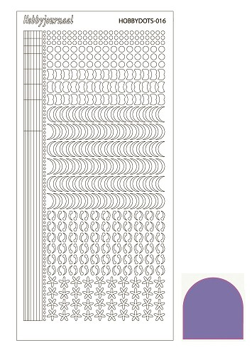 Hobbydots sticker - Mirror Purple - serie 16