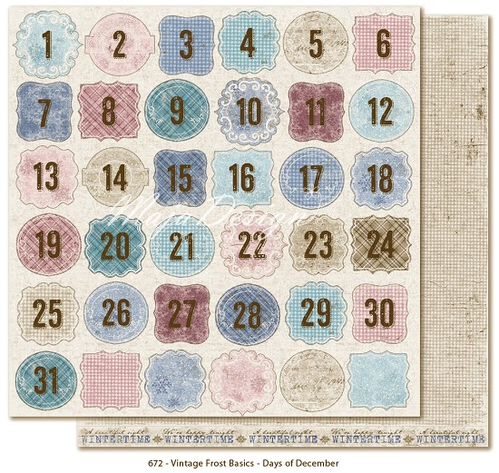 Scrapvel Maja Design - Frost Basics - Days of December