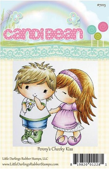Rubber Stamp LDRS - CandiBean - Penny`s Cheeky Kiss