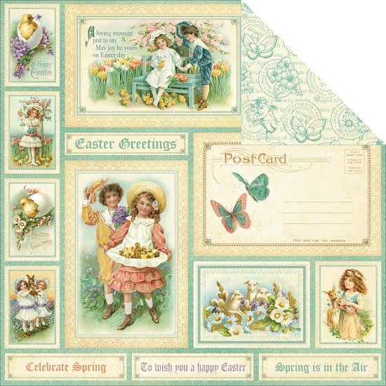 Scrappapier Graphic 45 - Sweet Sentiments - Easter Greetings
