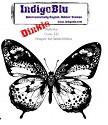 IndigoBlu - Rubber Stamp - A7 Flutterby