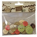 Dovecraft - Curiosity Corner Paper - Wooden buttons