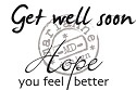 MD Clear stamp - Tekst Get well soon UK