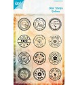 Noor! Design - Clear stamp - Buttons ENG Just a Note