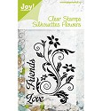 Noor! Design - Clear stamp - Silhouettes Flowers Love
