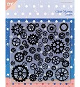 Noor! Design - Clear stamp - Gears Background