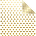 Scrappapier - Simple Stories - The Story of Us - Gold Dot/Stripe