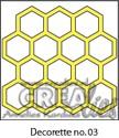 Stansmal - Crealies - Decorette no. 3 stans achtergrond honingraat 5 cm x 5 cm