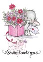 Clear stamp - Wild Rose Studio`s - Bella with Bouquet
