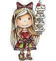 Rubber stamp - Paper Nest Dolls - Cupcake Ellie