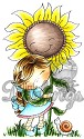 CandiBean stamp - Sunflower Daisy