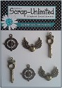 Scrap Unlimited - Steampunk charms - set