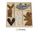 Vilten ornamenten - CraftEmotions - Winter Woods Rendier