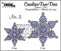Stansmal - Crealies Duo Die - no. 3 sneeuwvlok CLDD03