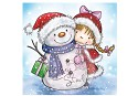 Clear stamp - Wild Rose Studio`s - Girl and Snowman