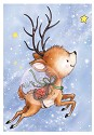 Clear stamp - Wild Rose Studio`s - Reindeer Flying