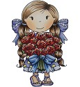 Rubber stamp - Paper Nest Dolls - Flower Bouquet
