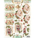 Studio Light - Stansvel A4 - Shabby Chic - Winter Christmas nr. 432