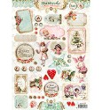 Studio Light - Stansvel A4 - Shabby Chic - Winter Christmas nr. 434