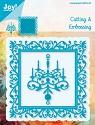Noor! Design - Blauwe mal - Vierkant + kroonluchter