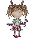 PRE-ORDER 3 - Rubber stamp - Paper Nest Dolls - Reindeer