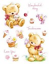 Clearstamp ScrapBerry`s - My Little Bear - Set of stamps - Bear with cupcakes