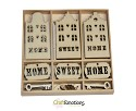 Houten ornamenten - CraftEmotions - 10,5 x 10,5 cm - Home Sweet Home