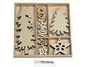 Houten ornamenten - CraftEmotions - 10,5 x 10,5 cm - Bomen en versiering