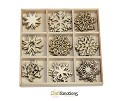 Houten ornamenten - CraftEmotions - 10,5 x 10,5 cm - Kristallen