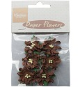 Marianne Design - Paper Flowers - Dark Brown roses