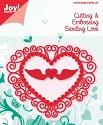 Noor! Design - Cutting & Embossing stencil -  Sending Love - Hart