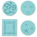 Martha Stewart - Crafter`s Clay Silicone Molds - Decorative