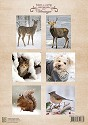 Knipvel Nellie Snellen - A4 Vintage Winter Animals